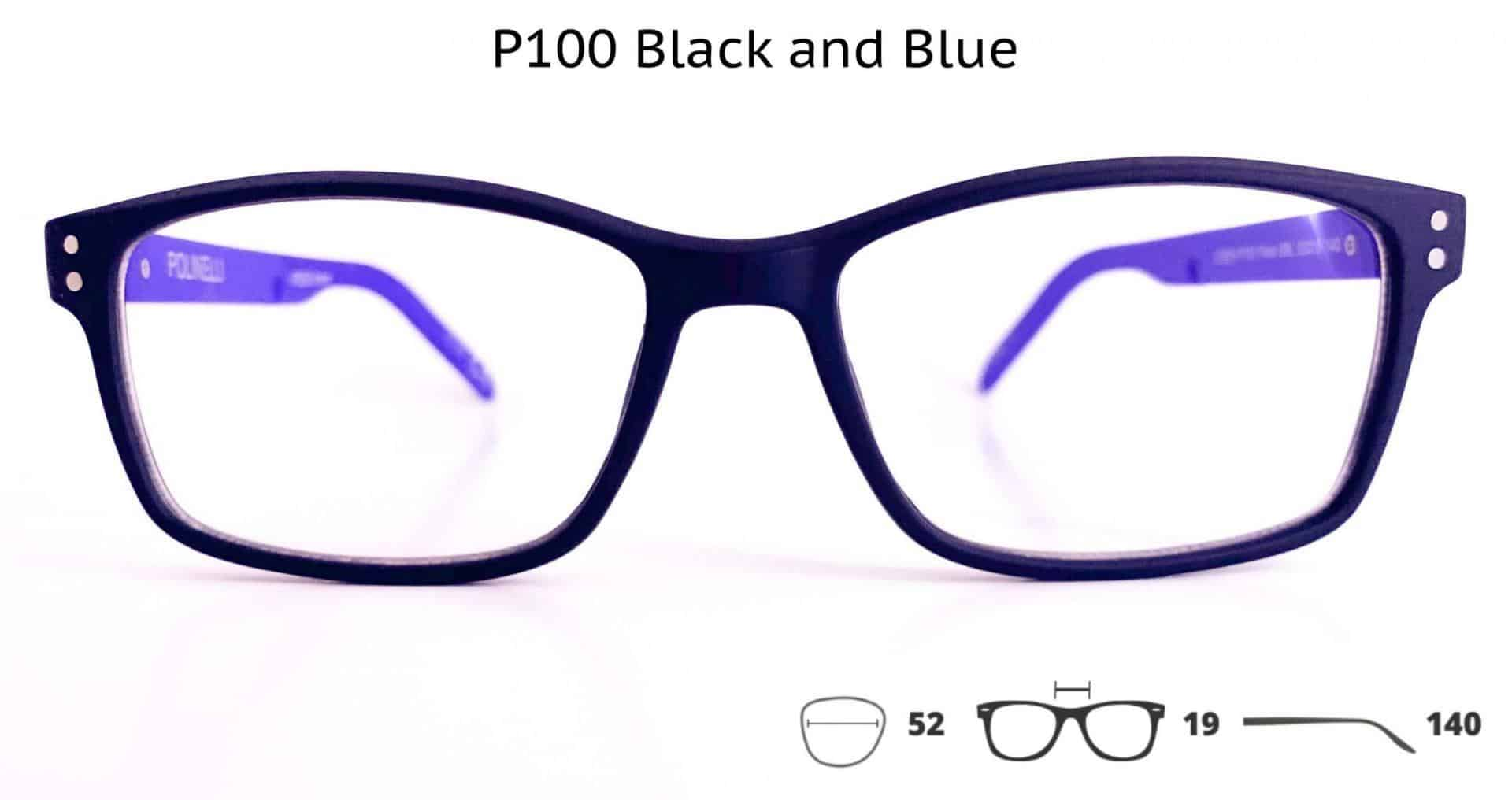 P100 Black and Blue