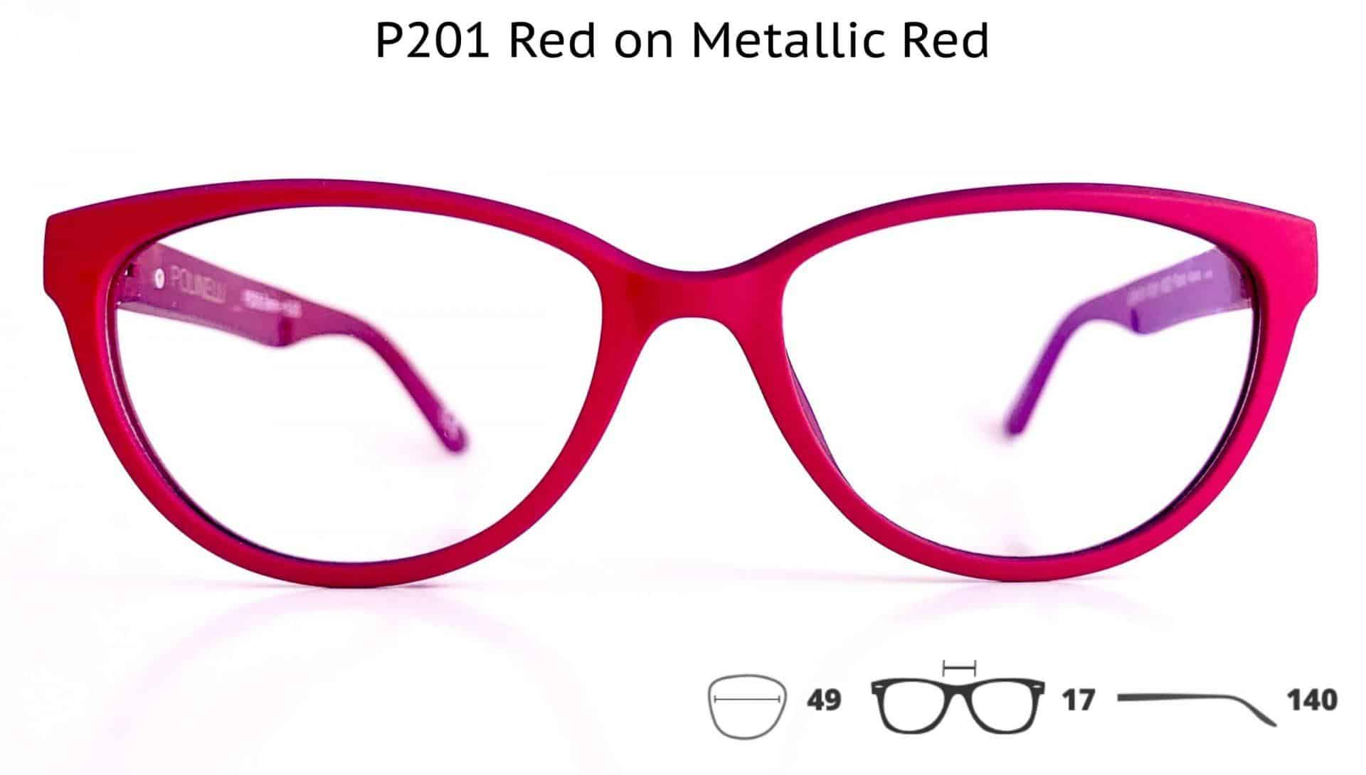 P201 Red on Metallic Red